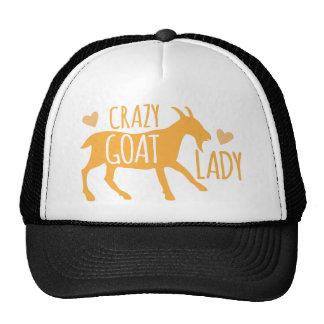 Señora loca de la cabra gorro
