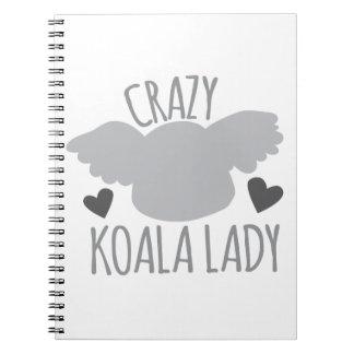 Señora loca de la koala notebook