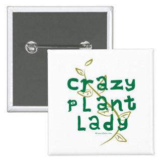 Señora loca de la planta pin cuadrado