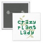 Señora loca de la planta pins