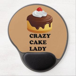 Señora loca de la torta alfombrilla de ratón con gel