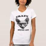 Señora loca de Sphynx Tee Shirts