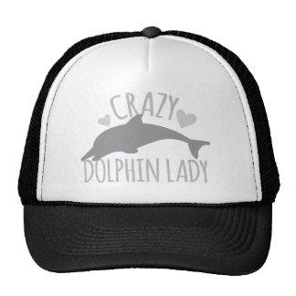 Señora loca del delfín gorra