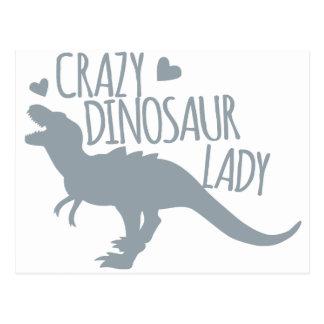 Señora loca del dinosaurio postal