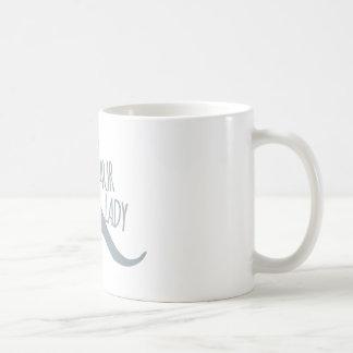 Señora loca del dinosaurio taza básica blanca