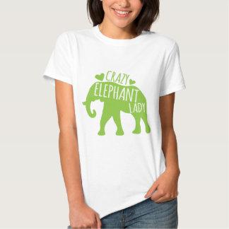 Señora loca del elefante playera