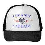 Señora loca del gato 1921 gorra