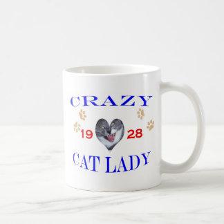 Señora loca del gato 1928 tazas