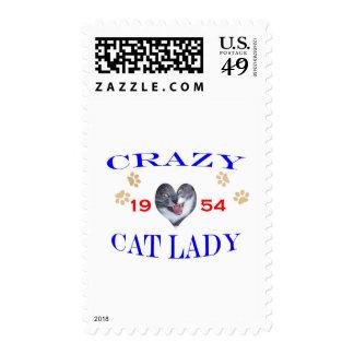 Señora loca del gato 1954 sello
