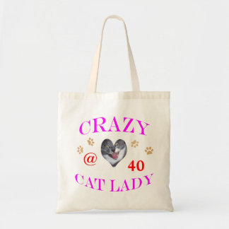 Señora loca del gato 40 bolsa tela barata
