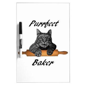 Señora loca del gato de los regalos del gato del pizarras blancas