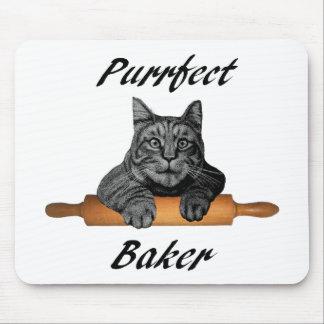 Señora loca del gato de los regalos del gato del tapetes de ratón