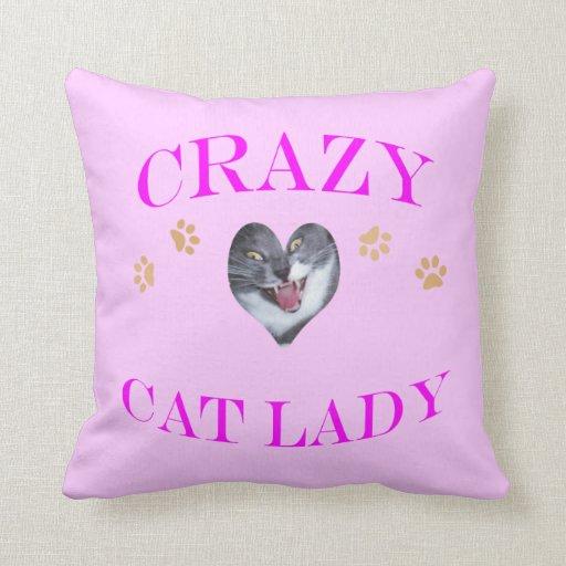 Señora loca del gato II Almohadas
