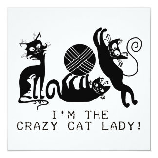 Señora loca del gato anuncio personalizado