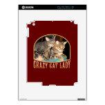 Señora loca del gato iPad 2 skins