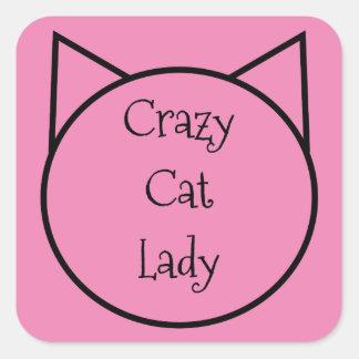 Señora loca del gato