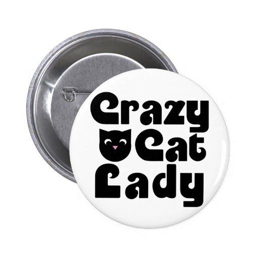 Señora loca del gato pin