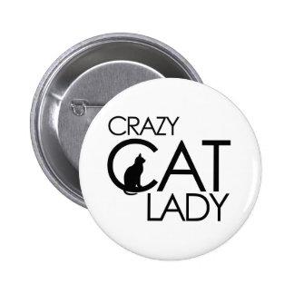 Señora loca del gato pins