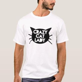 Señora loca del gato playera
