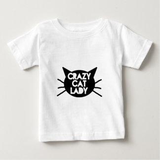 Señora loca del gato playera de bebé