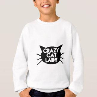 Señora loca del gato sudadera