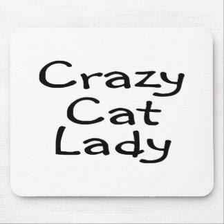 Señora loca del gato tapetes de ratones