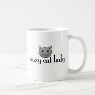 Señora loca del gato taza