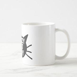 Señora loca del gato taza de café