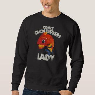 Señora loca del Goldfish Sudadera