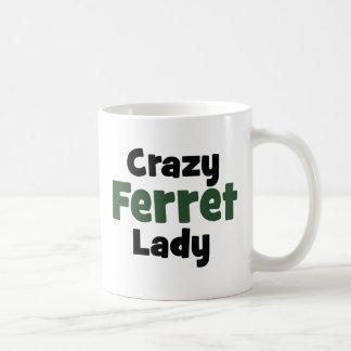 Señora loca del hurón taza de café