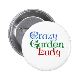 Señora loca del jardín pin