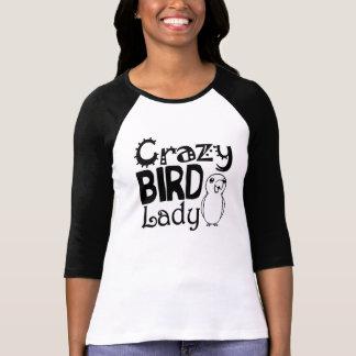 Señora loca del pájaro poleras