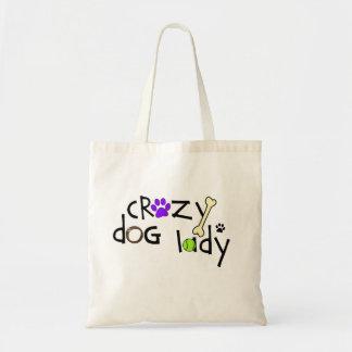 Señora loca del perro - la bolsa de asas