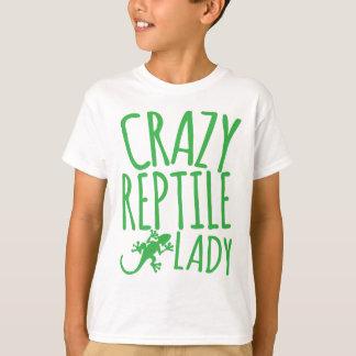 señora loca del reptil playera