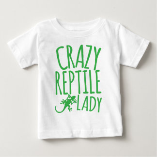 señora loca del reptil playera para bebé