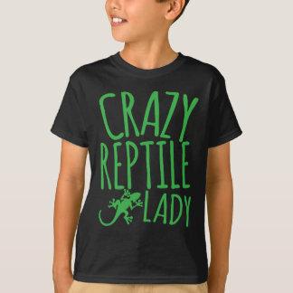 señora loca del reptil polera