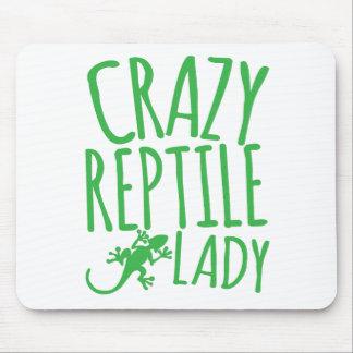 señora loca del reptil tapete de ratón