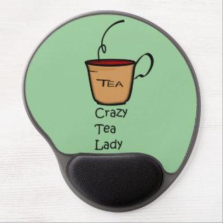 Señora loca del té alfombrilla con gel