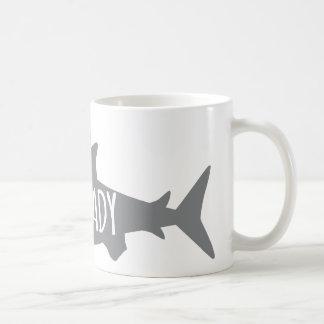 Señora loca del tiburón taza de café