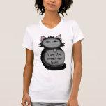 Señora loca divertida del gato del gato sombrío camisetas