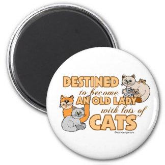 Señora loca futura Funny Saying Design del gato Imán De Nevera