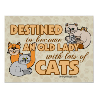 Señora loca futura Funny Saying Design del gato Impresiones