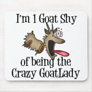 Señora loca GetYerGoat de la cabra Alfombrillas De Ratón