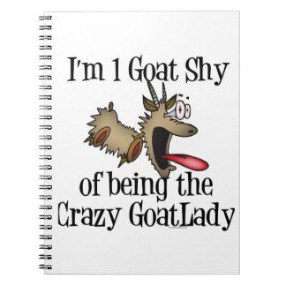Señora loca GetYerGoat de la cabra Libreta