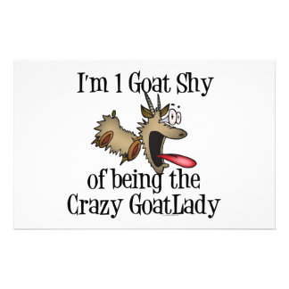 Señora loca GetYerGoat de la cabra Papeleria Personalizada