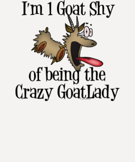 Señora loca GetYerGoat de la cabra Playera