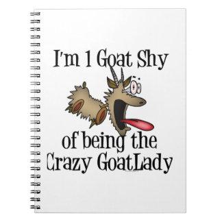 Señora loca GetYerGoat de la cabra Spiral Notebook