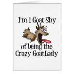Señora loca GetYerGoat de la cabra Tarjeta De Felicitación
