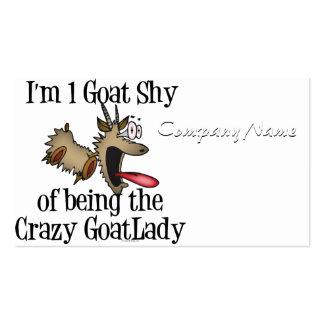 Señora loca GetYerGoat de la cabra Tarjetas De Visita