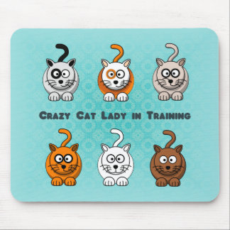 Señora loca In Training Mousepad del gato Tapetes De Ratón
